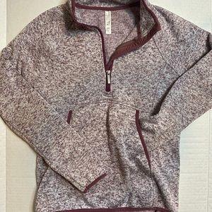 Maroon Quarter Zip Sweatshirt
